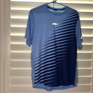 NIKE Blue Dri-Fit Short Sleeve Shirt Size Large